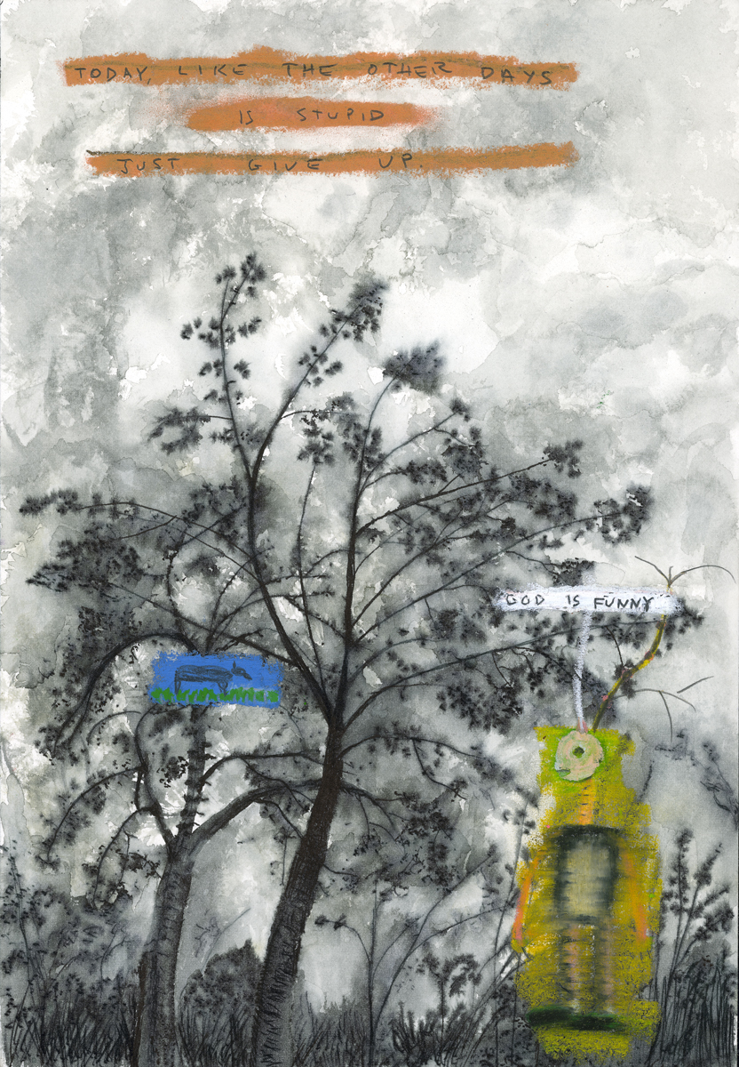 God Is Funny, a painting by John Lurie