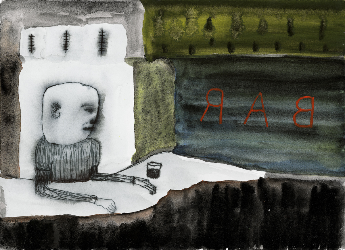 Bar, a painting by John Lurie
