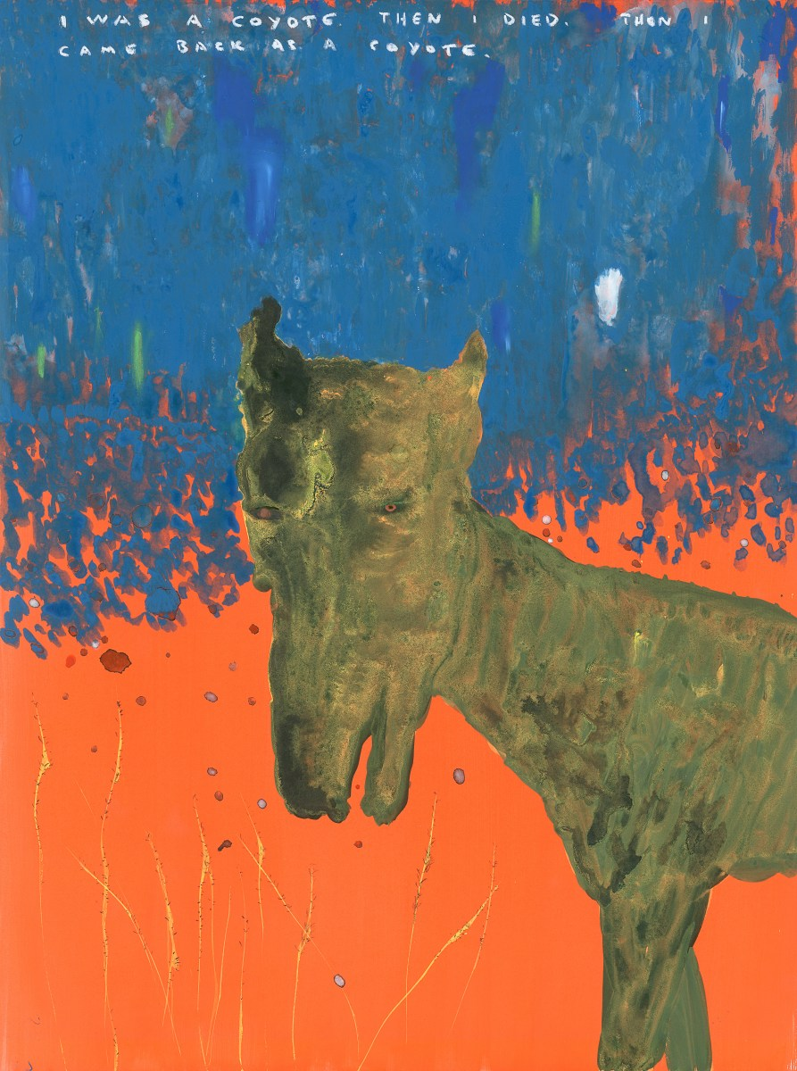 I Was a Coyote, Then I Died, Then I Came Back as a Coyote, a painting by John Lurie