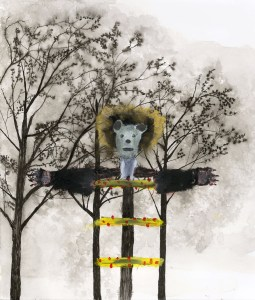 Give Up. Americans Have the Right to Bear Arms, a painting by John Lurie