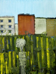 I Am Thankful for My Skeleton. He Is Out in the Garden, a painting by John Lurie