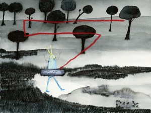You Are Here, a painting by John Lurie