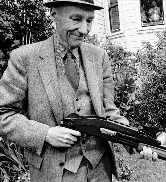 Burroughs in Garden with Shotgun, 1981, photograph by Ruby Ray