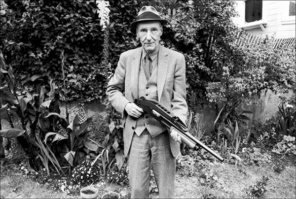 William S. Burroughs up with your hands photograph by Ruby Ray