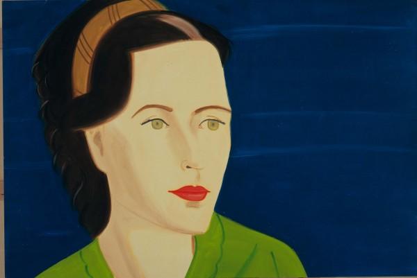 "Sharon, painting by Alex Katz, 2007, oil on linen, 48"" x 72"""