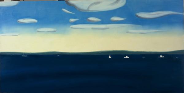 Marine 4.30 pm, painting by Alex Katz
