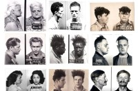 Mugshots collage, from the collection of Mark Michaelson