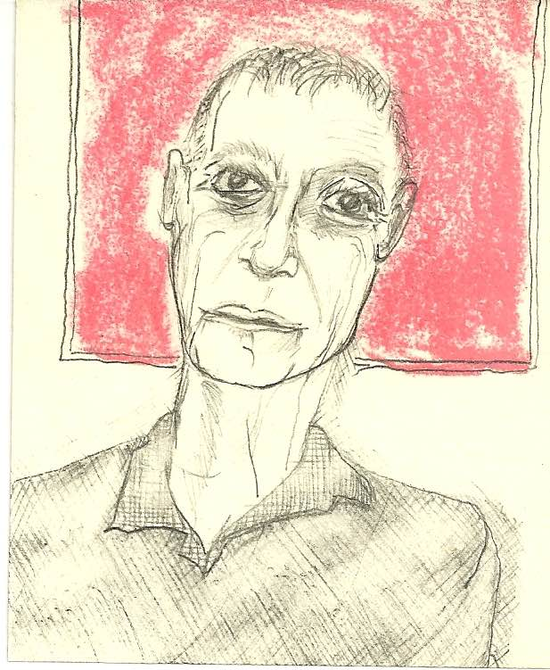 John Giorno drawing by David West