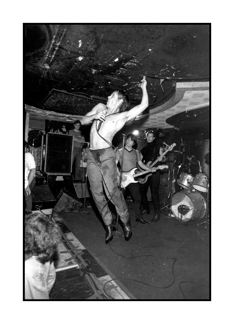Iggy Pop performing at Bookies Club 870, 26 September 1980