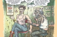 R. Crumb illo for Scab Vendor by Jonathan Shaw
