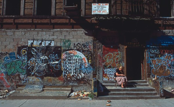 Nowhere, E. 10th St. Ave. B & C, 1983, photograph by Philip Pocock