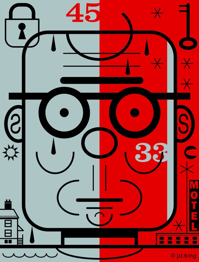 Like a 45 on 33, illustration by J. D. King