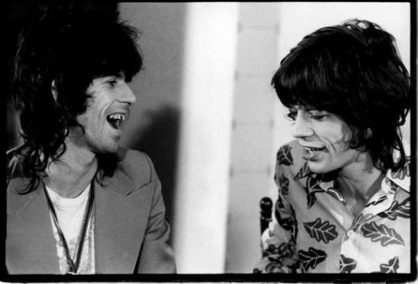 Keith Richards and Mick Jagger, 1974