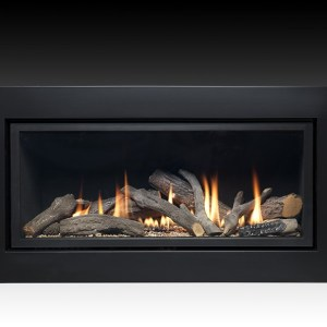 Pinnacle 860 HE Black Remote Control Inset Gas Fire
