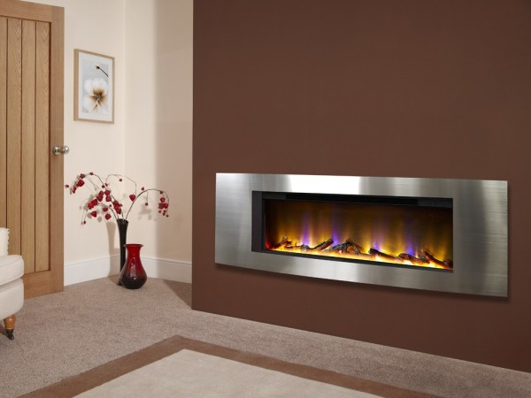 Celsi Electriflame VR Vichy Inset Wall-Mounted Electric Fire Silver