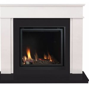 Webster Marble Suite & Large Glass Fronted Gas Fire