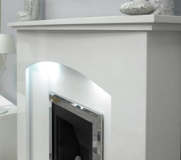 Melford Curve Marble Fireplace