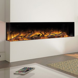 Flamerite Glazer 1500 2-Sided Inset Electric Fire