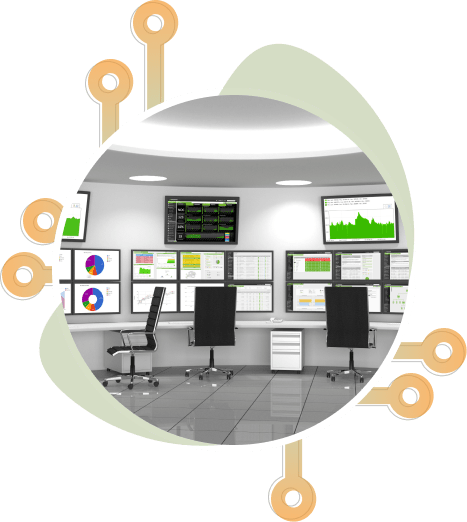 Remote monitoring in a data center