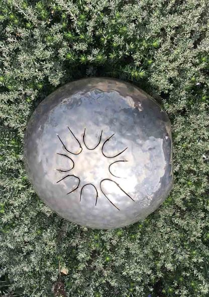 Hand Hammered Silver Tongue Drum