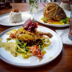 Balinese duck and fish