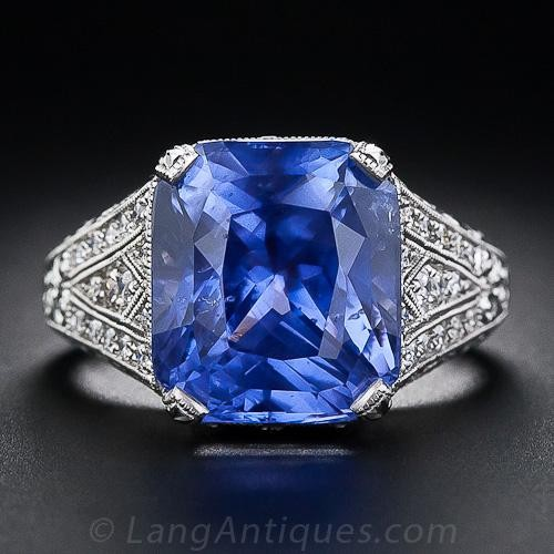 10.29 Carat Color-Change Sapphire Ring