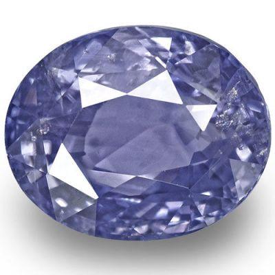 9.63-Carat Rare Velvety Violetish Blue Kashmir Sapphire (GIA)