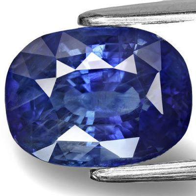 6.80-Carat Eye-Clean Velvety Intense Cornflower Blue Sapphire