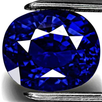 11.11-Carat Rare Fiery Vivid Royal Blue Unheated Sapphire (GRS)