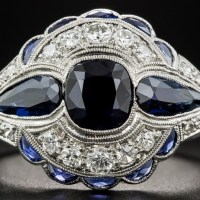 A Gorgeous Art Deco 1.75 Carat Sapphire and Diamond Ring