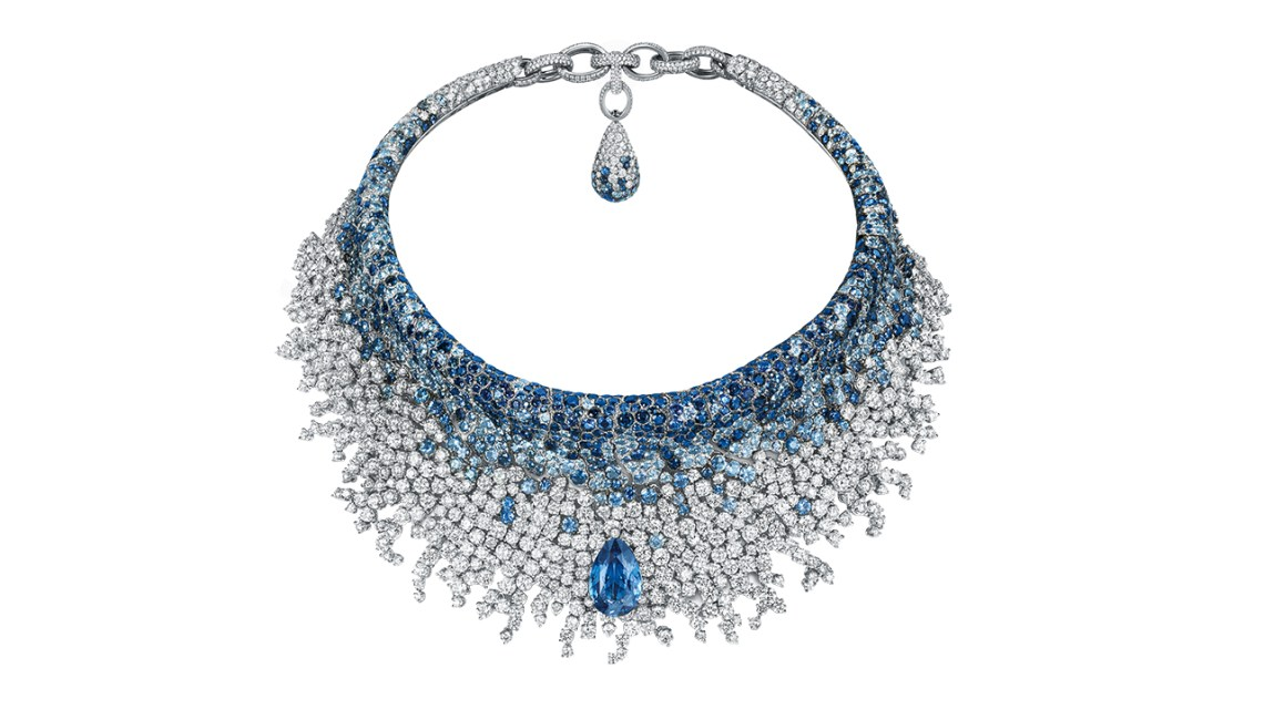 Gorgeous Sapphire and Diamond Necklace by de GRISOGONO