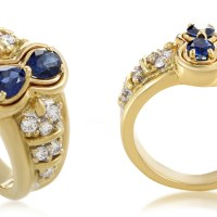 A Stunning Estate Graff Women's 18K Yellow Gold Diamond & Sapphire Ring