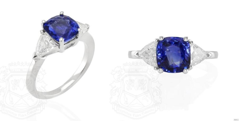 2.55 Ct. Blue Sapphire Ring
