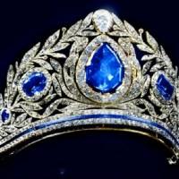A Spectacular Diamond and Sapphire Tiara circa 1925