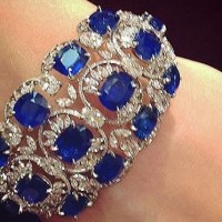 A Gorgeous Sapphire and Diamond Cuff