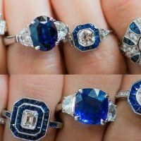 Gorgeous Sapphire and Diamond Rings by Laura Pearce Ltd.
