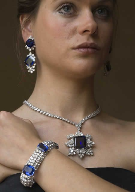 Gorgeous Sapphire and Diamond Jewelry