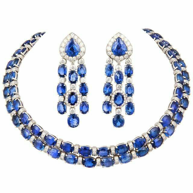 A Gorgeous Sapphire and Diamond Choker Necklace