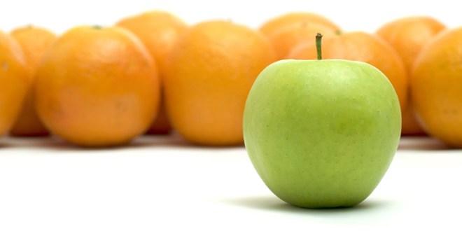 تفاح و برتقال