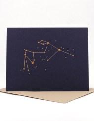 Constellation card, Aquarius