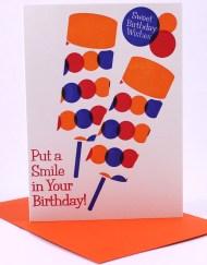 Vintage style push pop birthday card