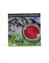 Watermelon Seed Packet - hand written card gift