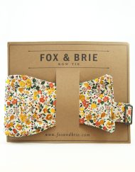 Fox & Brie floral bowtie