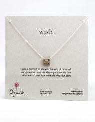 """Dogeared necklace """"wish"""" sterling silver"""