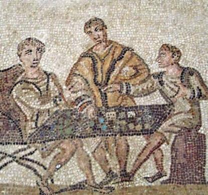 Mosaic of Gamblers