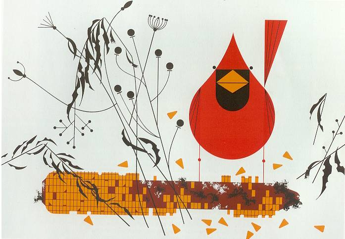 """""""Red and Fed"""" by Charley Harper"""