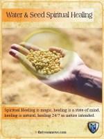 water and seed spiritual healing