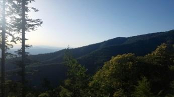 La vista lungo il sentiero verso il Valdarno