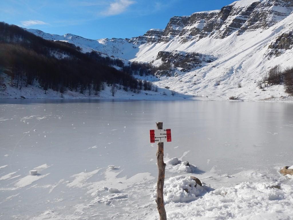 Lago Baccio ghiacciato
