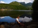 Giocando sul lago del Rifugio